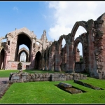 Melrose Abbey,  Scotland.
