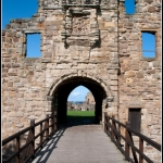 Castle entrance in St. Andrews, Scotland