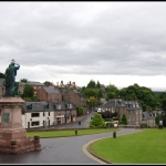 Cityscape of Inverness in Scotland Highlands