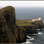 Neist Point lighthouse in Isle of Skye, Scotland