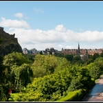 Princess Gardens with Edinburgh castle