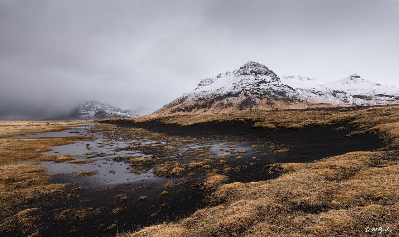 Typical volcano icelandic landscape