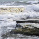 Crashing powerful sea waves